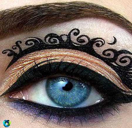 تاتو , تاتو چشم , تاتو خط چشم , تاتوی خط چشم , برچسب چشم , برچسب خط چشم , تاتوی خط چشم نئون , برچسب خط چشم نئون , برچسب طراحی خط چشم , برچسب تاتو خط چشم