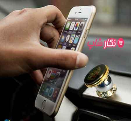 نگهدارنده موبایل مغناطیسی , نگهدارنده موبایل , نگهدارنده گوشی مغناطیسی , نگهدارنده تبلت در خودرو , هولدر موبایل مغناطیسی در ماشین