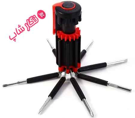 ابزار , ابزار چند کاره , پیچ گوشتی , پیچ گوشتی چند کاره , پیچ گوشتی همه کاره , ابزار 8 کاره