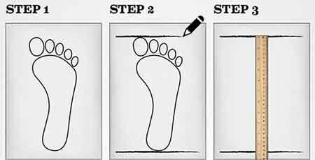 تعیین سایز پا