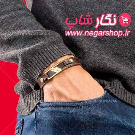 دستبند , دستبند چرم , دستبند چرمی , دستبند چرم طرح نقشه ایران , دستبند چرم مردانه , دستبند چرم پسرانه