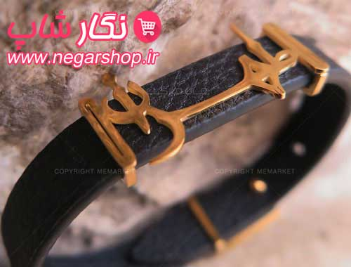 دستبند , دستبند چرم , دستبند چرمی , دستبند چرمی طرح طهران , دستبند چرم مردانه , دستبند چرم پسرانه