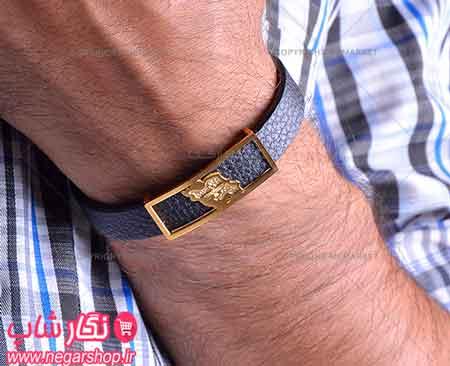 دستبند طرح نقشه ایران , دستبند چرم طرح نقشه ایران , دستبند چرم , دستبند چرمی