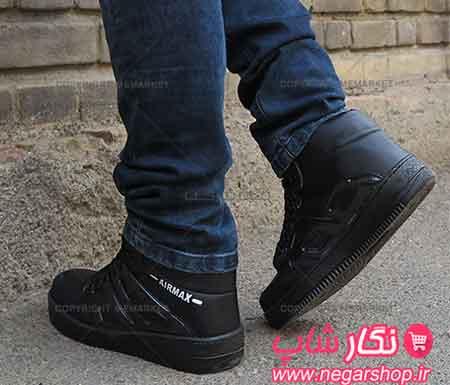 کفش ساق بلند مردانه NIKE با رویه ضد آب مناسب فصل پاییز و زمستانکفش ساق دار , کفش ساق بلند مردانه , کفش ساق دار مردانه , کفش ساق