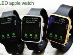 ساعت ال ای دی اپل واچ دارای صفحه لمسی بسیار شیک و زیبا