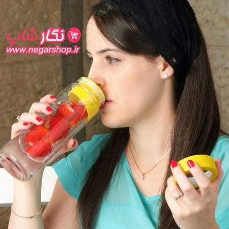 بطری دتاکس واتر , بطری دتاکس واتر , دتوکس واتر , بطری آب با اسانس میوه , بطری آب طعم دار