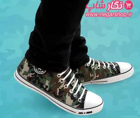 کفش مردانه آل استار , کفش ارتشی پسرانه , کفش نیم بوت مردانه , کفش آل استار