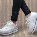 کفش دخترانه , کفش دخترانه سفید , کفش دخترانه لژ دار , کفش لژ دار دخترانه , کفش زنانه , کفش دخترانه اسپرت