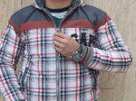 کاپشن خز دار مردانه GAP رنگ طوسی بسیار شیک با تن خوری بی نظیر و عالی