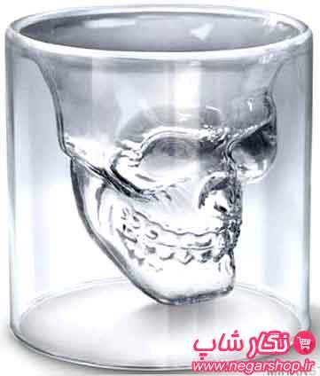 لیوان طرح اسکلت , لیوان طرح اسکلت دو جداره , لیوان دو جداره طرح اسکلت , لیوان دو جداره , لیوان طرح دار