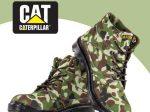 نیم بوت مردانه اسپرت طرح ارتشی CAT با طراحی خیره کننده و بسیار زیبا