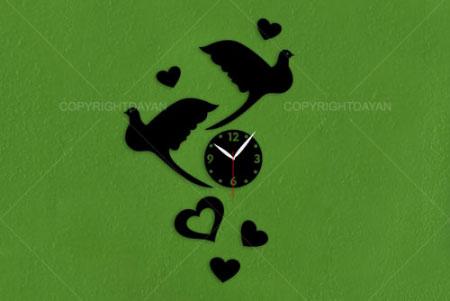 ساعت دیواری طرح دار , ساعت دیواری شیک , ساعت دیواری فانتزی طرح دار , ساعت دیواری طرح پرنده , ساعت دیواری طرح قلب