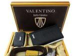 ست کیف و کمربند و جاکلیدی چرمی Valentino یک هدیه بسیار ارزنده برای آقایان