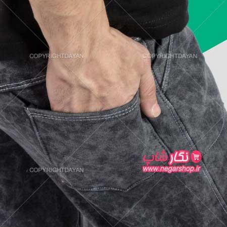 شلوار طرح جین , شلوار طرح جین مردانه , شلوار طرح جین کشی , شلوار طرح لی