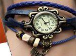 ساعت مچی الیزابت زنانه رنگ آبی پر رنگ با طراحی بسیار زیبا و کیفیت بی نظیر