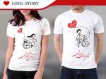 ست تیشرت زنانه و مردانه عاشقانه و دونفره love story ویژه زوج های شیک پوش