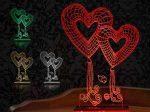 آباژور سه بعدی طرح قلب با طراحی بسیار متفاوت و مدرن یک دکوری بسیار فانتزی و خاص