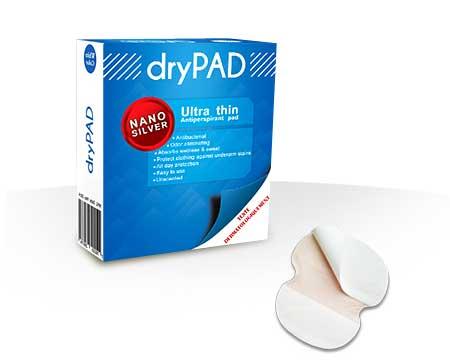 پد عرق گیر زیر بغل Dry Pad کاملا ضد باکتری و برطرف کننده بوی نامطبوع ناشی از تعریق