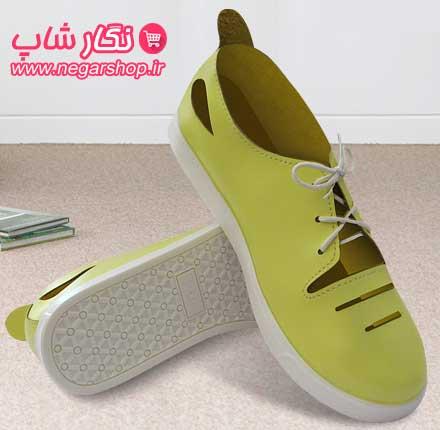کفش چرمی زنانه , کفش چرمی دخترانه , کفش زنانه اسپرت , کفش دخترانه چرمی