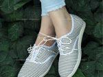 کفش دخترانه راحتی ELIN با رویه پارچه ای و طرح راه راه بسیار زیبا و شیک