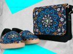 ست کیف و کفش طرح سنتی مدل کژال بسیار مناسب برای خانم های مشکل پسند