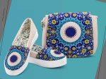 کیف و کفش سنتی زنانه مدل پرین دارای نقش و نگار بسیار زیبا و خیره کننده