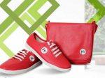 ست کیف و کفش چرم زنانه مدل Hi RED یک ست عالی برای خانم های شیک پوش
