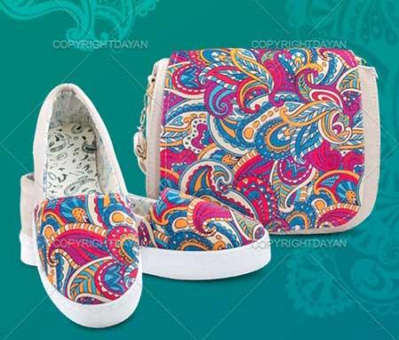 ست کیف و کفش دخترانه , ست کیف و کفش زنانه , ست کیف و کفش دخترانه طرح سنتی , ست کیف و کفش مجلسی , ست کیف و کفش سنتی