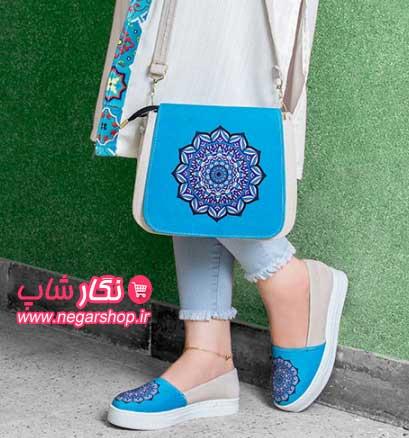 ست کیف و کفش زنانه , ست کیف و کفش طرح دار , ست کیف و کفش دخترانه , ست کیف و کفش سنتی , ست کیف و کفش طرح سنتی زنانه