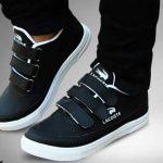 کفش مردانه لاگوست مشکی با ظاهر بسیار متفاوت و شیک انتخابی عالی برای مشکل پسندان