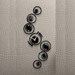 ساعت دیواری مشکی فانتزی طرح نارسیس با قابلیت نصب آسان و سریع