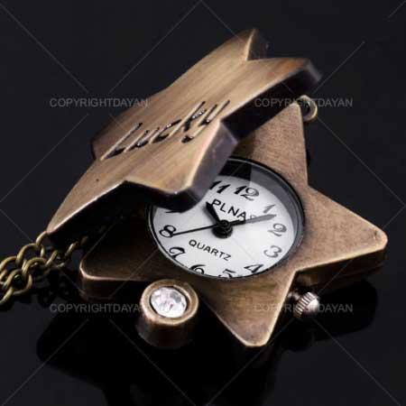 ساعت گردنبندی , ساعت گردنبندی زنجیری , ساعت گردنی , ساعت گردنبندی با درب بازشو , ساعت زنجیر دار