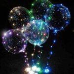 بادکنک بوبو بالن هلیومی دارای ریسه های LED بسیار شکیل و زیبا ویژه مهمانی ها
