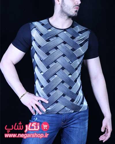 تیشرت سه بعدی مردانه , تیشرت سه بعدی , تی شرت ویسکوز مردانه
