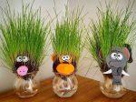 سبزه عروسکی عید نوروز بسیار متفاوت و زیبا در سه طرح خوک، فیل و میمون