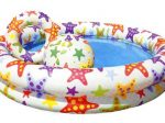 استخر بادی کودک INTEX طرح ستاره ای به همراه حلقه شنا و توپ ساحلی ۵۰ سانتیمتری