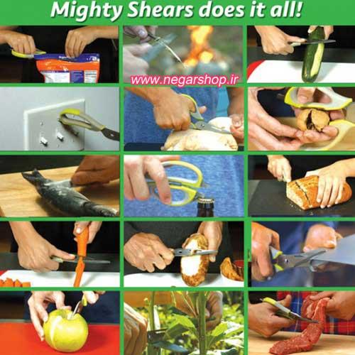 قیچی آشپزخانه , قیچی آشپزخانه ۱۰ کاره Mighty shears , قیچی همه کاره , قیچی ده کاره , قیچی آشپزخانه ۱۰ تیغه , قیچی چند تیغه