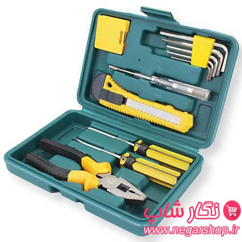 جعبه ابزار خانگی , جعبه ابزار همه کاره , جعبه ابزار ۱۲ تکه , جعبه ابزار پلاستیکی