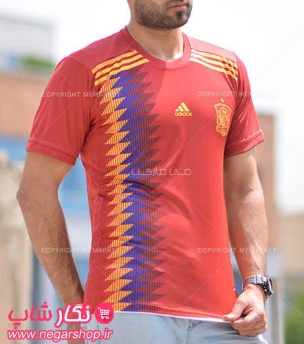 لباس جام جهانی اسپانیا , تی شرت جام جهانی تیم ملی اسپانیا , لباس اسپانیا , لباس ورزشی تیم اسپانیا , لباس جدید تیم ملی اسپانیا