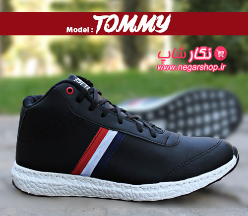 کفش ساق دار اسپرت مردانه , کفش نیم بوت مردانه , کفش ساق دار چرم مردانه , کفش Tommy , کفش ساق بلند مردانه , کفش اسپرت چرم