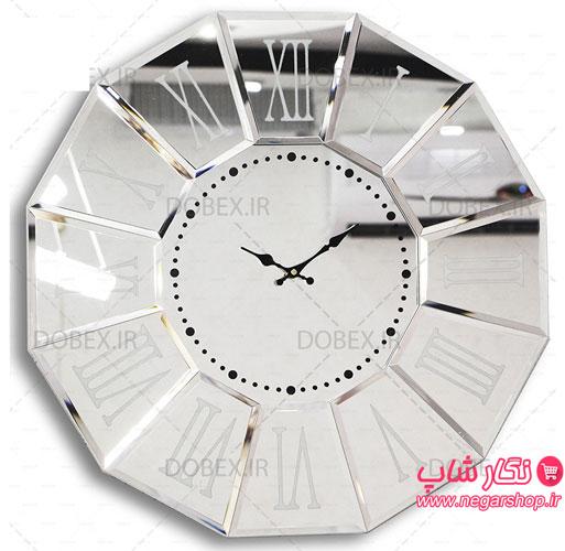 ساعت دیواری ونیزی عقیق , ساعت دیواری ونیزی , ساعت دیواری ونیزی عقیق , ساعت دیواری عقیق , ساعت دیواری ونیزی طرح عقیق , ساعت دیواری آینه ای بزرگ , ساعت آینه دار