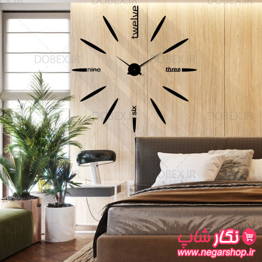 ساعت دیواری استیو سایز بزرگ , ساعت دیواری استیو سایز کوچک , ساعت دیواری استیو , ساعت دکوراتیو , ساعت دیواری گرد بزرگ