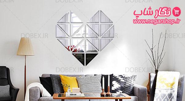 مجموعه آینه تراش دار طرح مثلثی , آینه تراش دار طرح مثلثی , مجموعه آینه تراش دار طرح , آینه تراش دار , آینه تراش خورده , آینه تراشدار دیواری , آینه های پازلی تراش دار