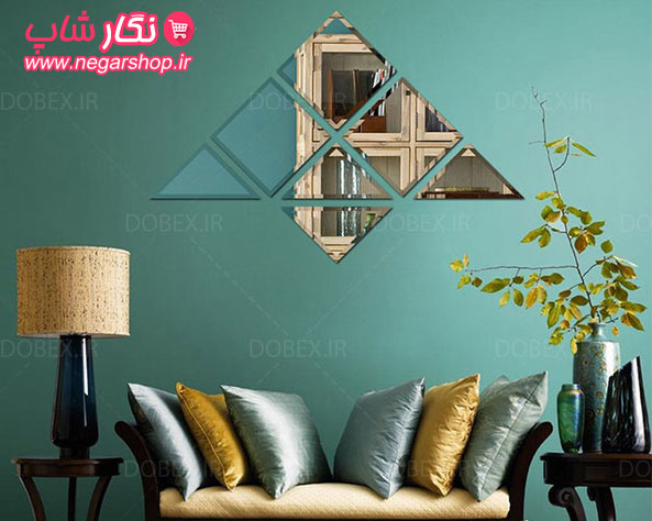مجموعه آینه تراش مدل سلنا , آینه فانتزی پدیده شاپ , آینه تراش , آینه تراش دار , آینه طرح دار , آینه دکوری دیواری , آینه تراش خورده