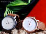 ساعت مچی بند چرمی Tomi دارای جعبه چوبی شکیل بسیار شیک و زیبا