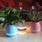 گلدان موزیکال هوشمند قابل استفاده به عنوان گلدان، اسپیکر پخش موزیک و چراغ خواب