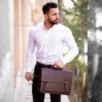 کیف اداری چرمی مردانه Lima بسیار شیک و با کیفیت مناسب آقایان شیک پوش